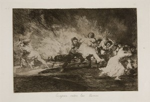لوحة 41 يهربون وسط النيران